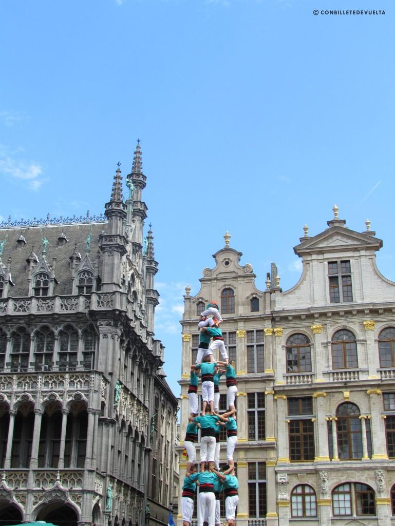 Castellers y cómics en Bruselas