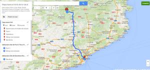 Mapa para llegar al inicio de la ruta